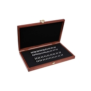 Ring gauge set in a wooden box, flat on the inside (2 x 36 pcs.)