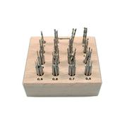 Twist-drill set in wooden box (64 pcs.)