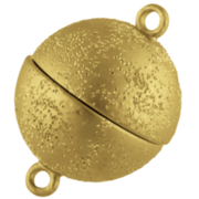 Magnet-kuglelås med stjernedrys 925/- forgyldt
