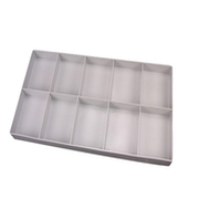 Plastic box with 10 compartsments