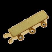 Matt clasp 585/-, 3 chain rows