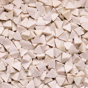 White plastic chips – pyramid-shaped