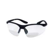 Safety glasses with optical inserts