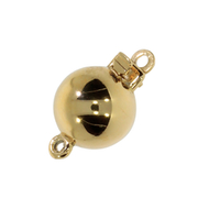 Polished ball clasp 750/- yellow gold