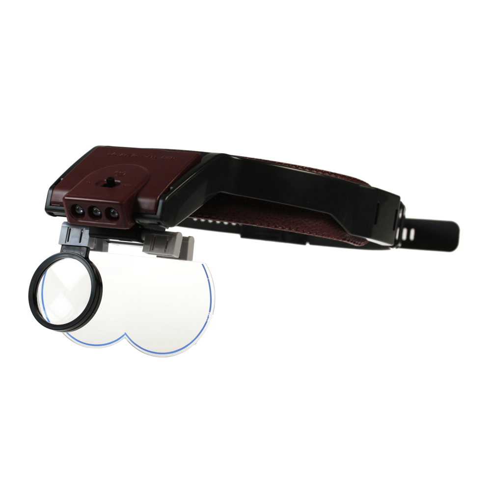 Megaview headband magnifier with LED light