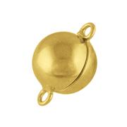 Blank magnet-kuglelås 925/- forgyldt, 8 mm
