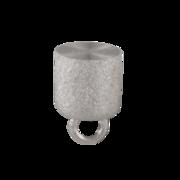 Matt cylinder-shaped magnet clasp 925/- rhodium plated